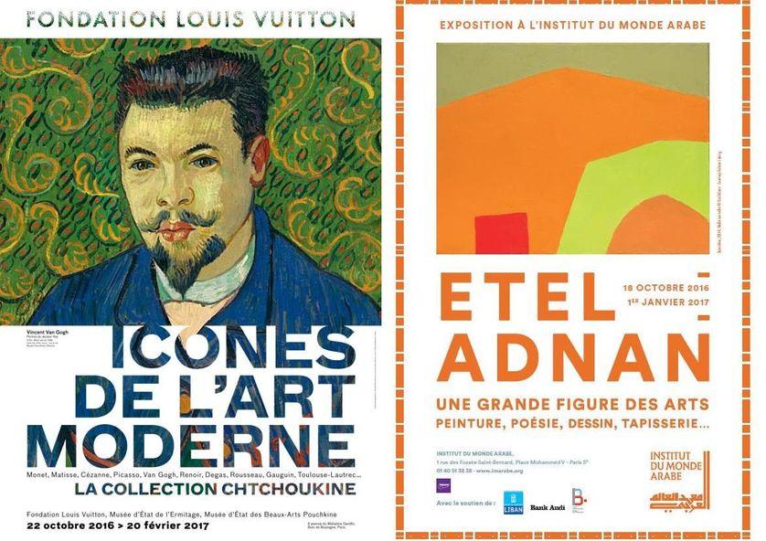 """""""Icônes de l'Art Moderne. La collection Chtchoukine"""" et """"Etel Adnan"""""""