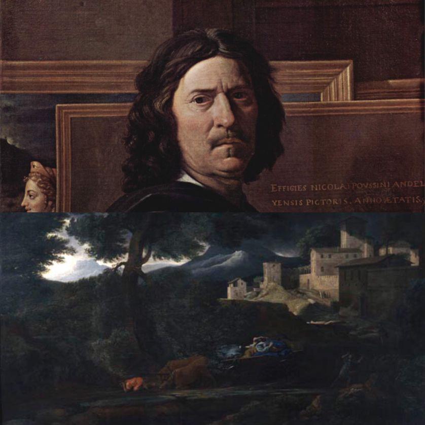 Portrait de l'artiste (1650) Musée du Louvre salle 14 / L'Orage, huile sur toile (vers 1651) Oeuvre du Musée des Beaux-Arts de Rouen
