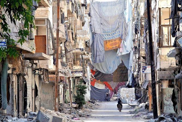 Alep (Syrie) dévastée