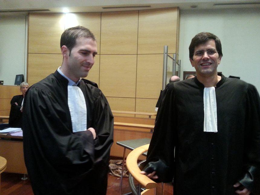 Mes Marco et Le Corno, les avocats de la partie civile