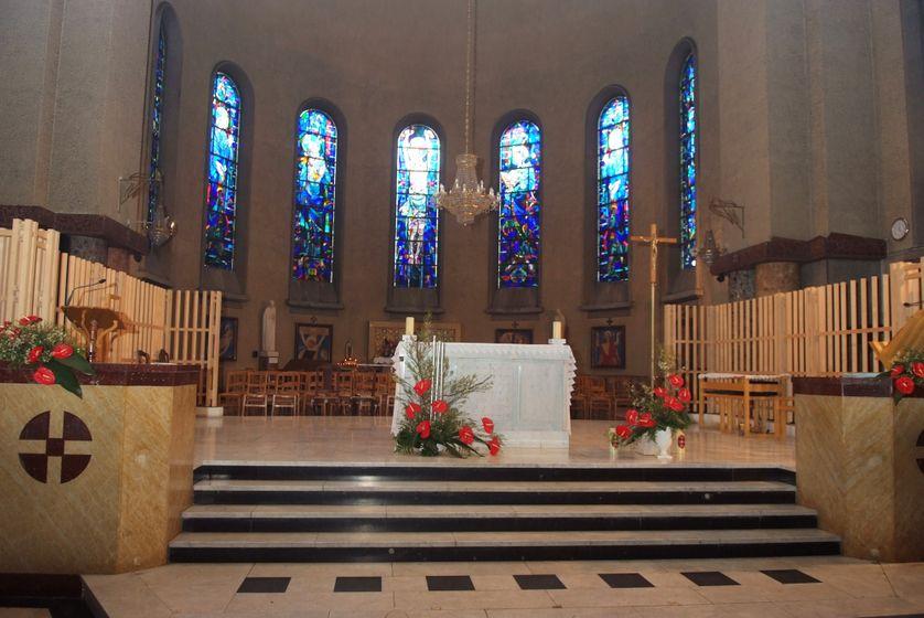 interieur de l'église du sacré coeur de Gentilly