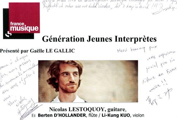 Livre d'Or Nicolas Lestoquoy