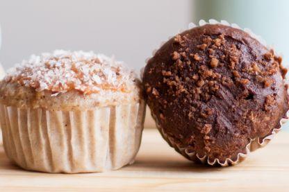 Muffins vanille et chocolat... sans sucre