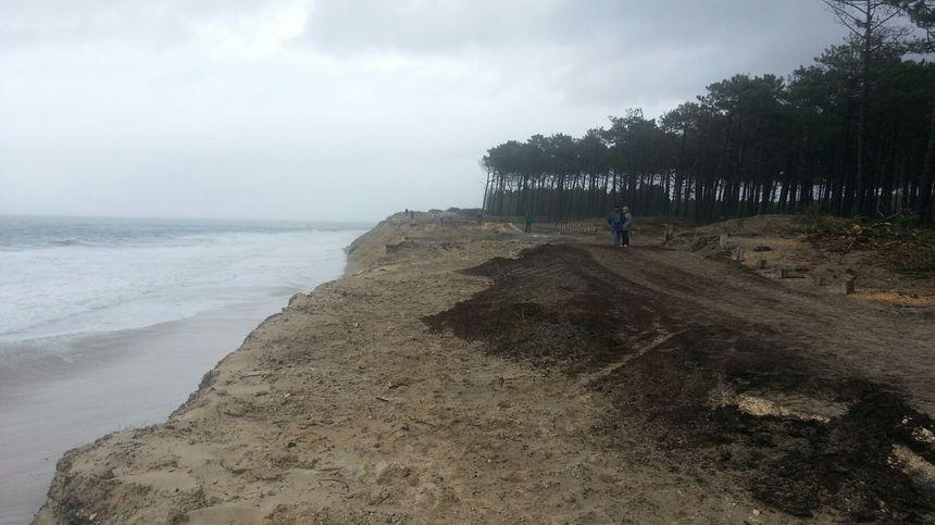 Erosion plage de la Lagune à La Teste - hiver 2015