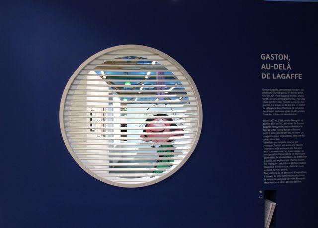 Dans l'exposition Gaston, au-delà de Lagaffe
