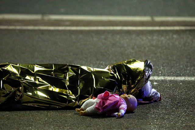 Une victime de l'attentat du 14 juillet 2016 à Nice.