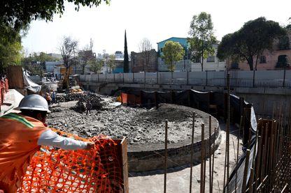 Partie du temple découvert dans le centre de Mexico