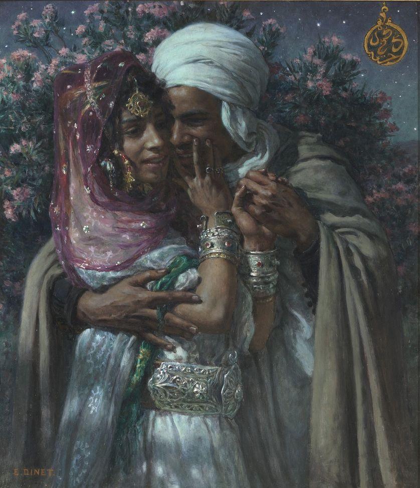 Esclave d'amour et lumière des yeux. Légende arabe vers 1900. Par Etienne Dinet (1861 - 1929)