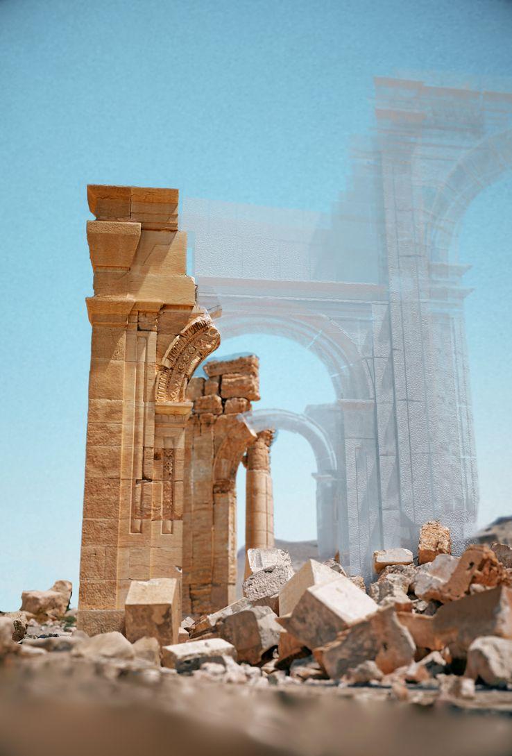 Palmyre - Arche après destruction