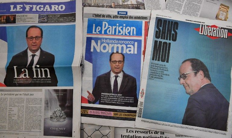 """Le bilan de François Hollande restera  contrasté, à l'image de l'inversion timide en 2016 de la courbe du chômage qui  avait été érigée comme """"enjeu majeur"""" d'un quinquennat"""