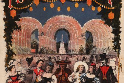 Affiche de l'opéra-comique La Fille de Madame Angot de Charles Lecoq