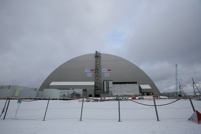 Le nouveau sarcophage de confinement de la centrale atomique de Tchernobyl