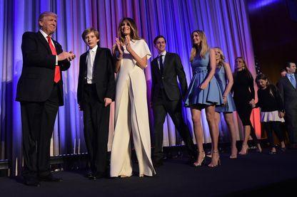 La famille de Donald Trump la nuit de son élection