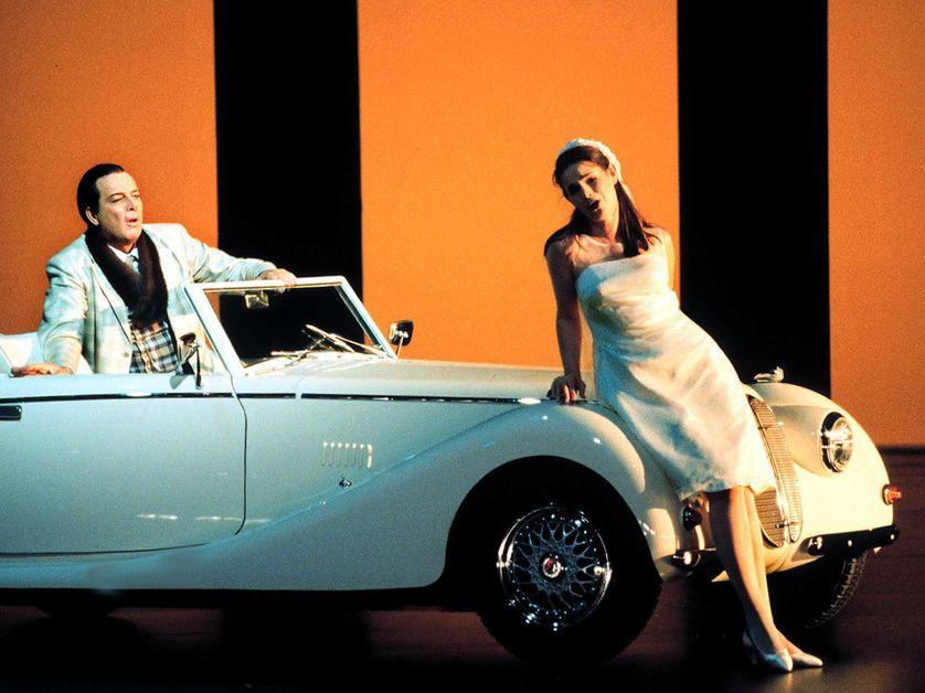 Répétition du Don Giovanni de Mozart, août 2000. Ferrucio Furlanetto  (Don Giovanni) et Sophie Koch (Zerlina)