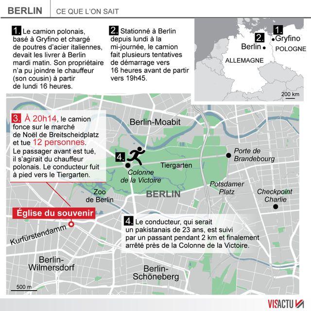 Attentat sur un marché de Noël à Berlin : ce que l'on sait