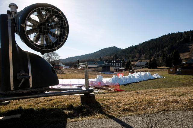 La station de la Féclaz (Savoie) le 23 décembre 2016