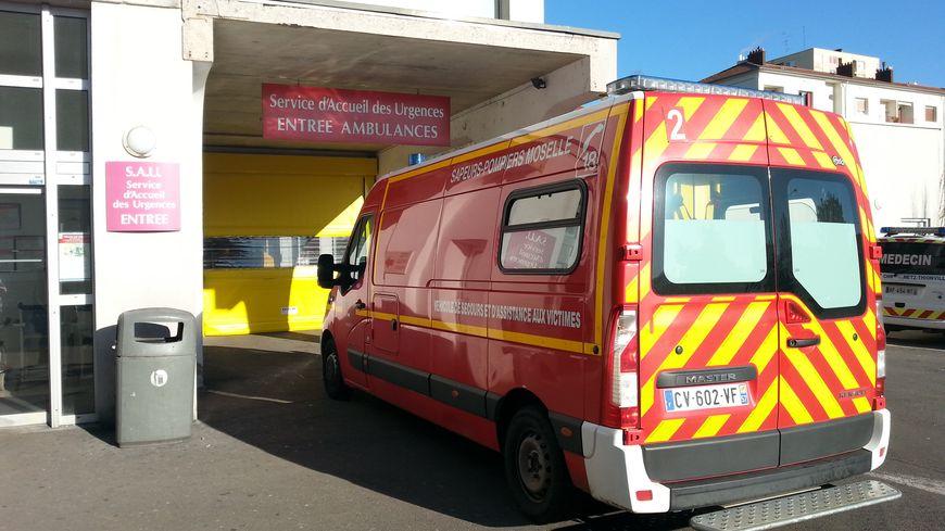 L'entrée des urgences de l'hôpital Bel air de Thionville.