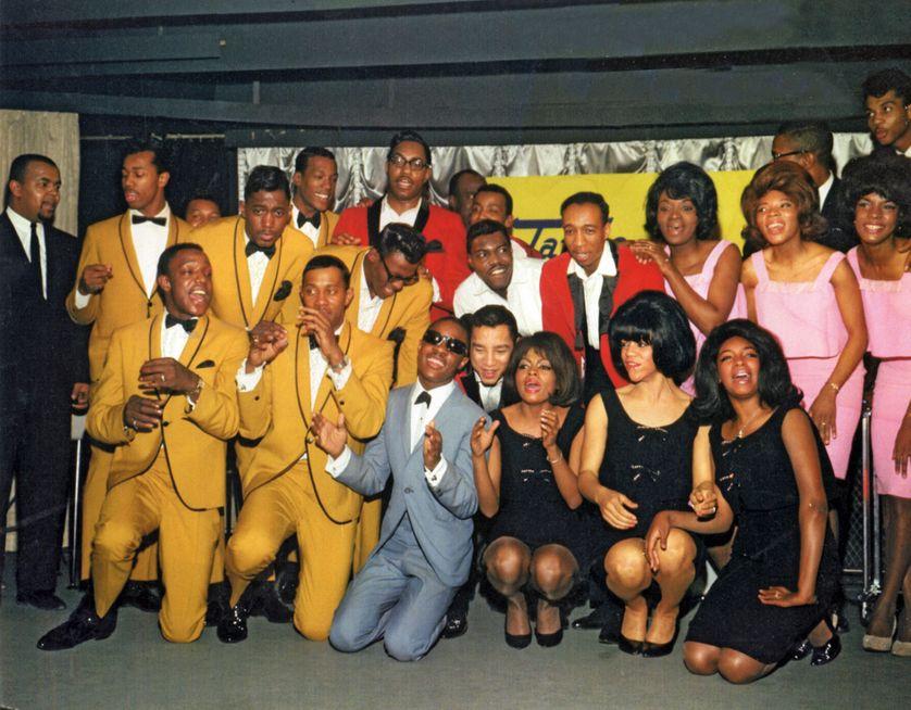 Les Temptations, les Miracles, Stevie Wonder, Martha & the Vandellas et les Supremes chez EMI Records en mars 1965, pour le lancement du label britannique Tamla-Motown.