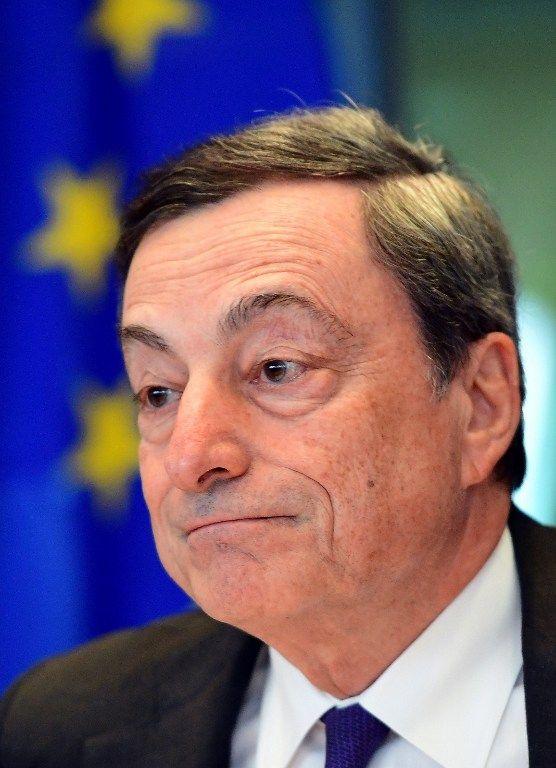 Mario Draghi , le président de la Banque Centrale Européenne à Francfort.