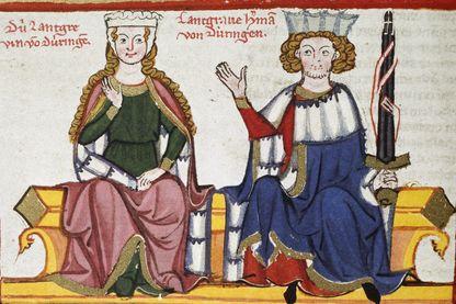Femme et poésie avec un troubadour au Moyen âge
