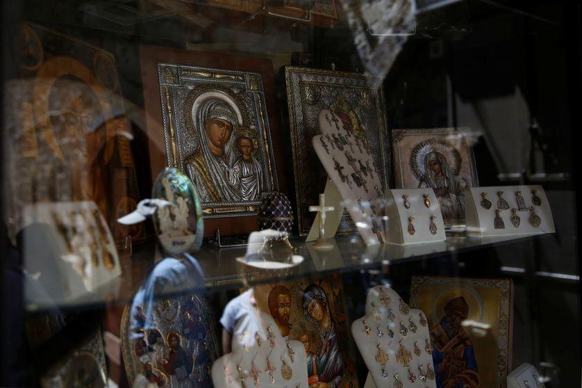 Souvenirs dans le quartier chrétien de Jérusalem
