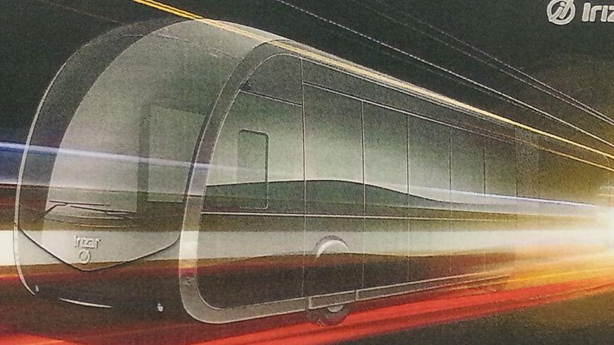 """le tram'bus """"du futur"""" présenté à bayonne"""