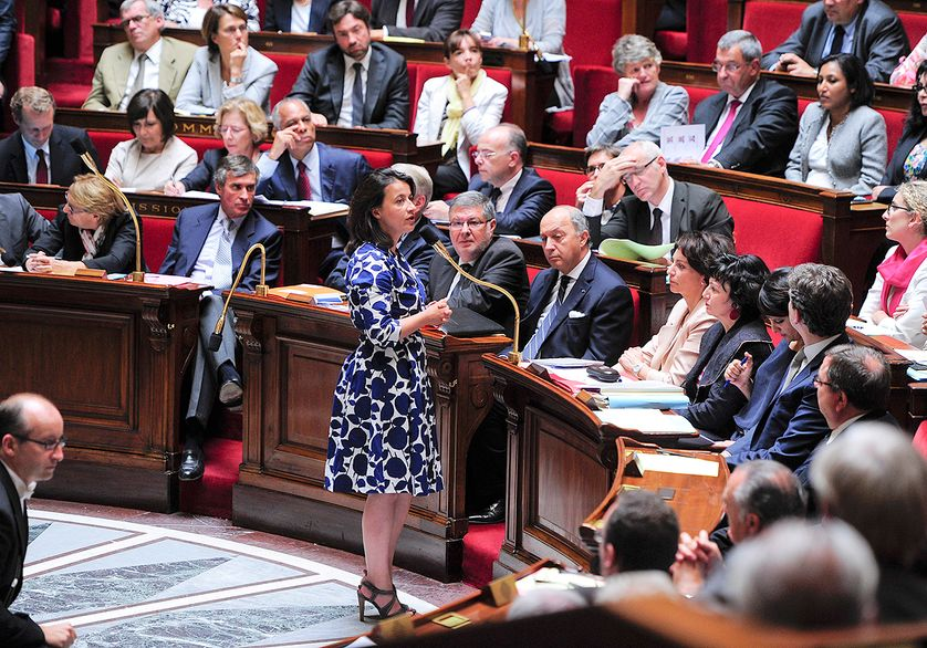 Cecile Duflot, ministre, sifflée en 2012 pour sa robe à fleurs à l'Assemblée.