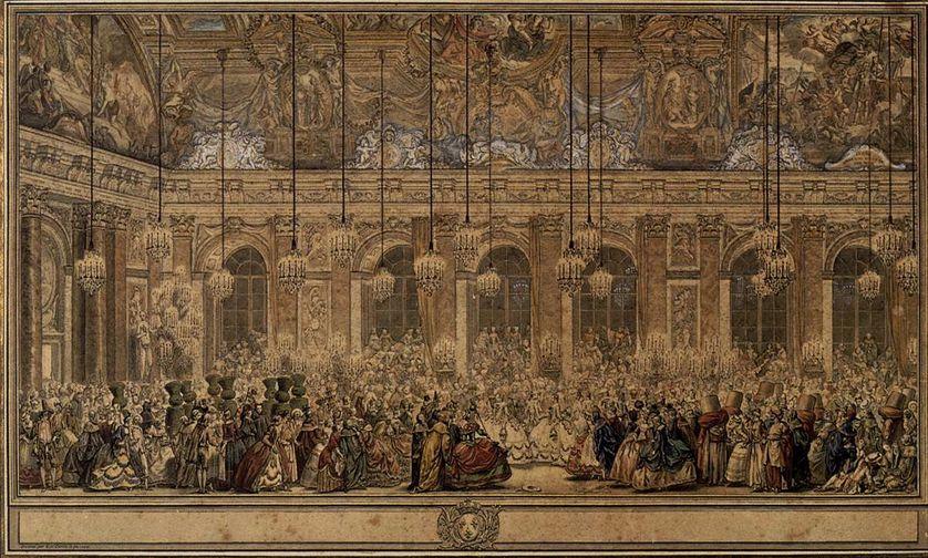 Gravure du Bal masqué donné pour le mariage du Dauphin de 1745, Charles Nicolas Cochin, le Jeune