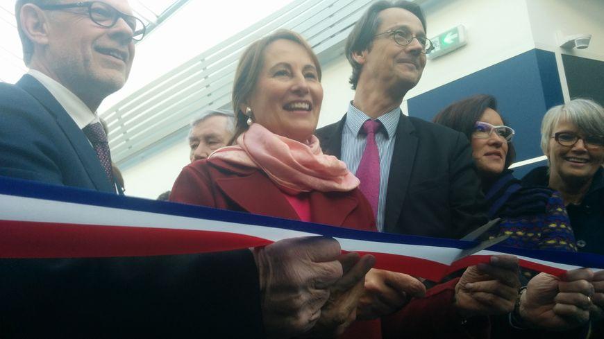 Ségolène Royal a inauguré la nouvelle usine Mecafi de Châtellerault.
