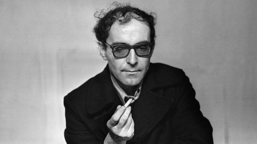Jean-Luc Godard donne une conférence de presse le 15 février 1971.