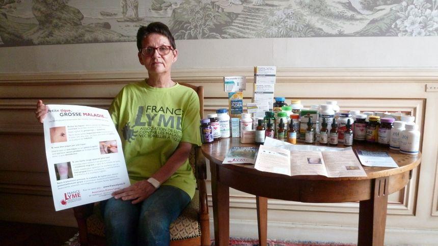 Annie Okrzesik, la responsable de la section Bourgogne de l'association France Lyme
