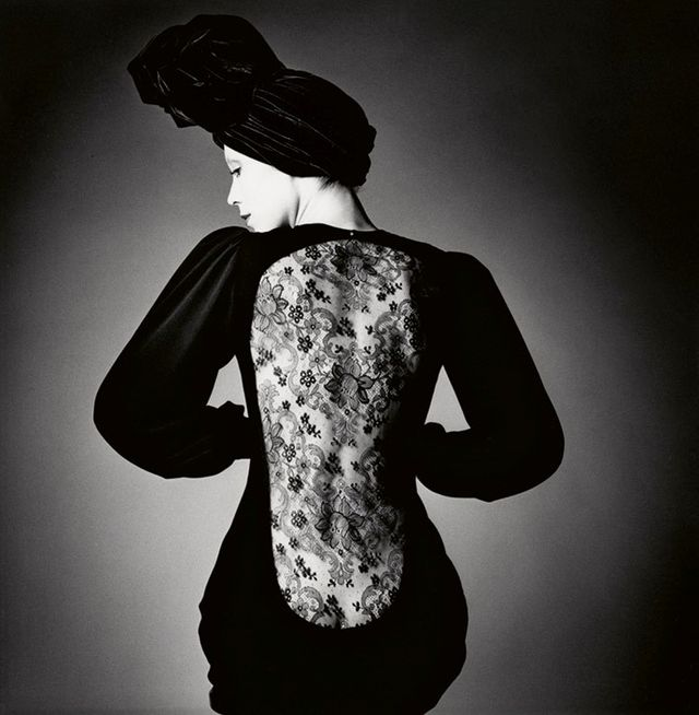 Robe d'Yves Saint Laurent, Vogue. Paris, 1970