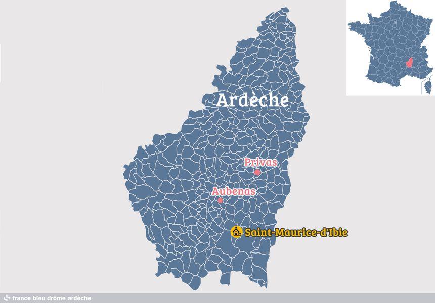 Saint-Maurice-d'Ibie, en Ardèche