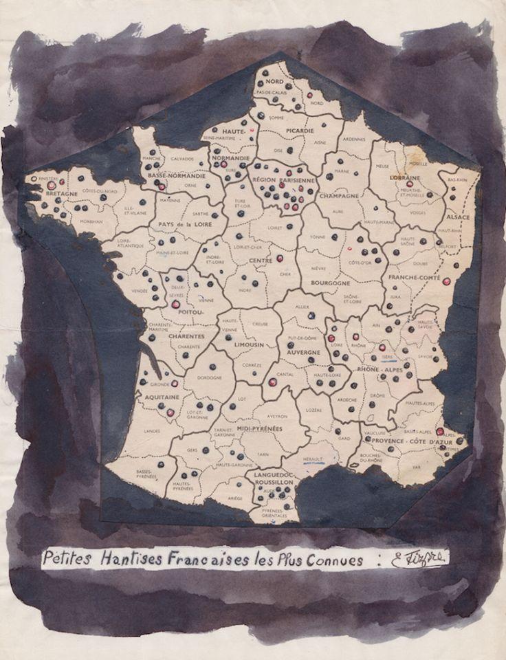 """Carte des """"petites hantises"""" françaises"""