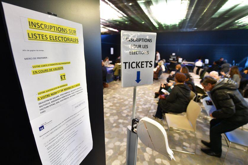 Photo prise le 28 décembre 2016 dans un bureau d'inscription aux listes électorales, à Montpellier.