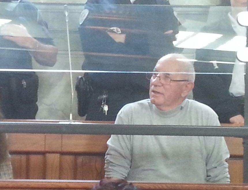 Claude Ducos dans le box des accusés lors du premier procès