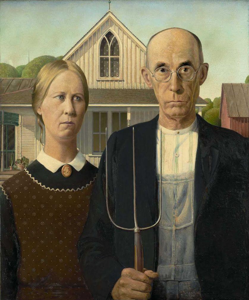 American Gothic (1930) de Grant Wood (1891-1942)