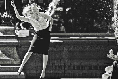 """Greta Gerwig sur le tournage de """"Frances Ha"""""""