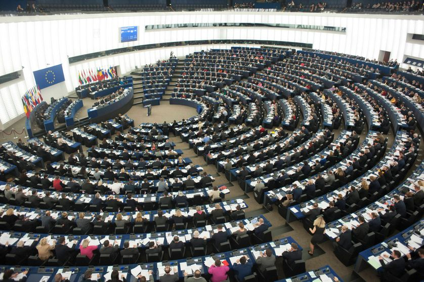 HEMICYCLE DU PARLEMENT EUROPEEN A STRASBOURG