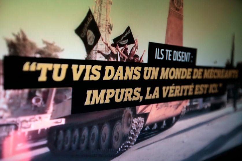 """Capture d'écran d'une vidéo du site """"stop djihadisme """" mis en place par le gouvernement"""