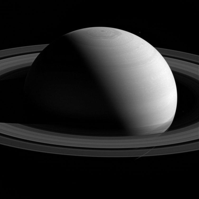 Une vue de Saturne à 2,5 millions de kilomètres. Photo prise par la sonde Cassini en février 2015