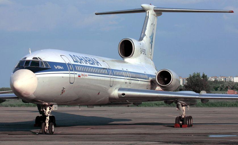 Avion russe Tupolev - 154, le même modèle que celui qui s'est abîmé en mer noire ce 25 décembre faisant 93 victimes