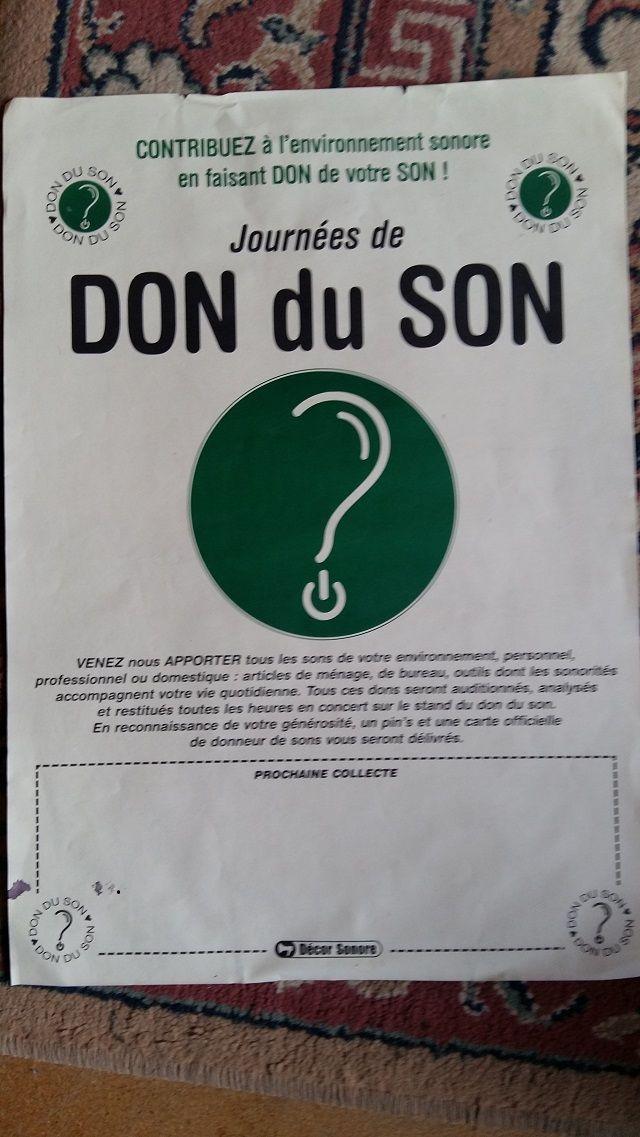 """Décor Sonore présente les """"Journées de Don du Son"""""""