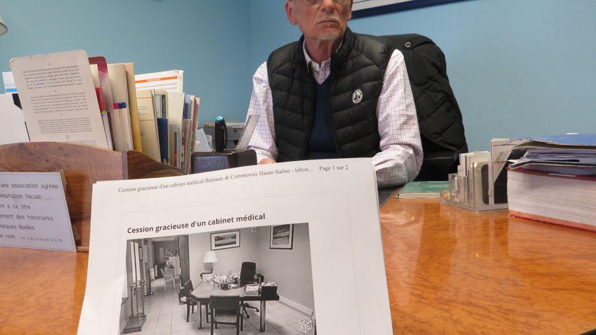 Le docteur Patrick Laine cède gratuitement son cabinet médical mais ne trouve pas preneur