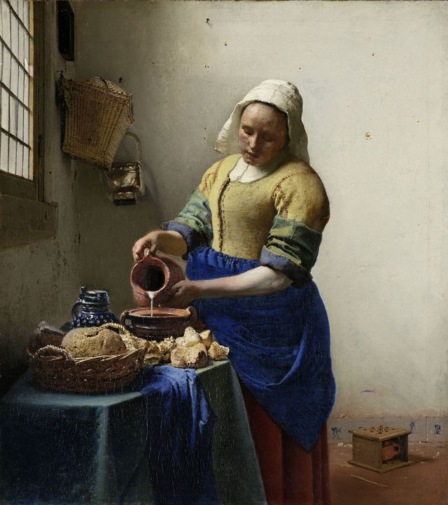 Johannes Vermeer - La Laitière - Vers 1658, huile sur toile, Amsterdam, Rijksmuseum - (c) Amsterdam, Rijksmuseum
