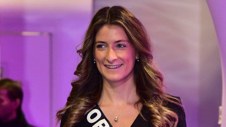 Daphné Bruman à l'élection de Miss France