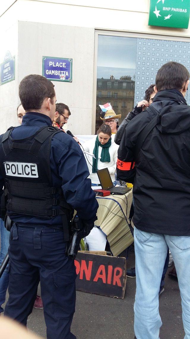 au siège de la BNP, à Paris