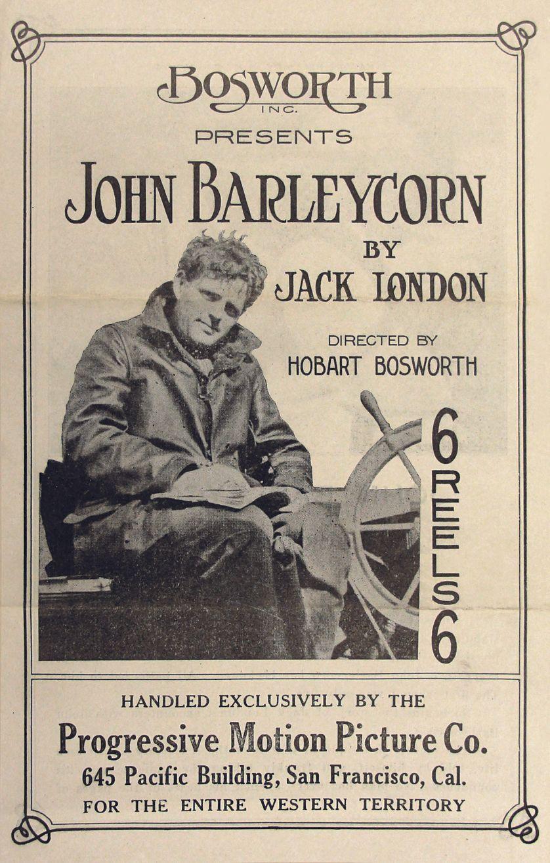 Affiche du film John Barleycorn, réalisation Hobart Bosworth