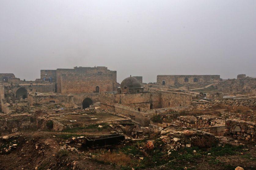 Vue de la citadelle d'Alep