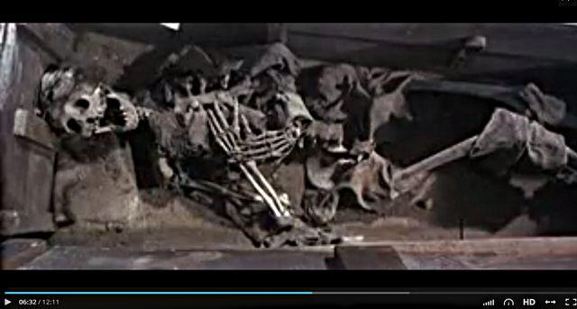 Capture d'écran du fameux squelette